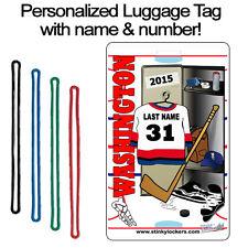 Personalized Washington Hockey Luggage Tag