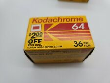Kodak Kodachrome 64 KR135-36 Color Reversal Film Expired 1998 +