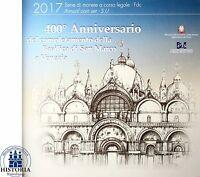 Italien 2017 Euro KMS 400 Jahre Markusdom in Venedig 1 Cent bis 2 Euro im Folder