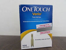 2x   One Touch Verio Test Strips - Pack of 100 Strips Pack Expiry   JULY 2021