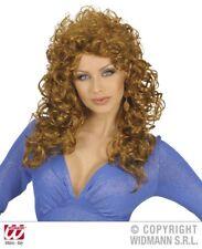 Parrucca donna attraente castana travestimento carnevale
