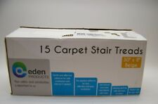 """Eden Products Set of 15 Carpet Stair Treads Beige - 30"""" x 8"""" NEW"""