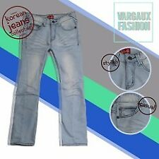 Vargaux ChangsubLoose Korean Style Men's Jeans Regular Fit Pants