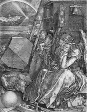"Albrecht Durer: Melencolia Painting Engraving - 8""x10"" Canvas Fine Art Print"