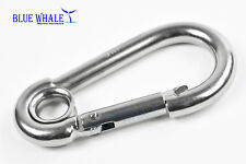 10Pcs Blue Whale 316 Stainless-Steel Carabiner Snap Hook with Ring -B: 2-3/8� Us