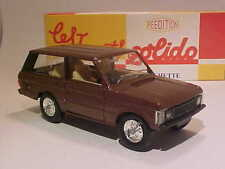 4 INCH Classic Land Range Rover 1980 Solido 1/43 Diecast Mint in Numbered Box