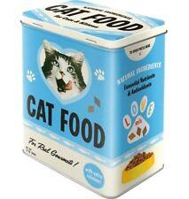 Retro CAT FOOD STORAGE TIN 3D Cookie BISCUITS Box NOSTALGIC ART