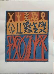 Riccardo Licata serigrafia Composizione 70x50 firmata anno 2006 stamp Boscolo