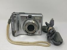 Canon Power-Shot A560 7.1-MP PC1229 Digital Camera Silver USB cable TESTED
