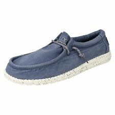Mens Hey Dude Lace Up Canvas Shoes WALLY WASHED