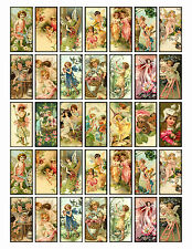 "SET OF 35 MINI (1""X2"") FAIRIES CHILDREN (15) SCRAPBOOK CARD CRAFT HANG GIFT TAGS"