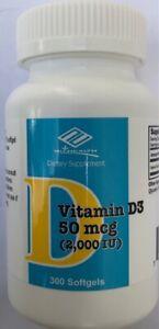 Nu-health Vitamin D3 2000 IU 300 softgels