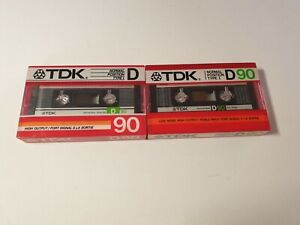 TDK D 90 Cassette Tape Set (Sealed)