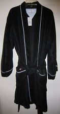 nwt S/M Tommy Hilfiger Black Mens 100% Cotton Spa Terry Cloth Bath Robe Bathrobe