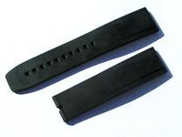22mm Breitling 131S Caoutchouc Armband schwarz black für Dornschliesse I005