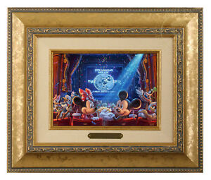 Thomas Kinkade Studios Disney's 90 Years of Mickey Brushwork (Choice of Frame)