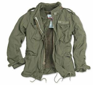 Surplus M65 Regiment Jacket Vintage Military Style Quilted Fleece Liner Olive