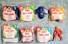 1996 Happy Meal - MARVEL SUPERHEROES - Complete Set of 8 Toys    cake toppers