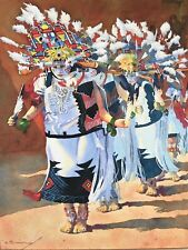 """ Hopi Butterfly Dancers "" BARRY SAPP Art Print Native American Indian Hopi"