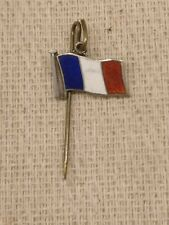 Sterling silver French flag pin