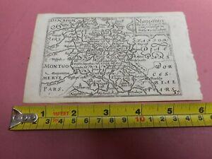 100% ORIGINAL SHROPSHIRE  MAP BY VAN DEN KEERE MINI JOHN SPEED C1646 VGC