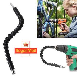 Flexible Screwdriver Extension Bending Drill Bit Holder Angle Corner Extender UK