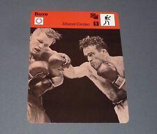 FICHE BOXE BOXING 1948 MARCEL CERDAN Vs TONY ZALE POIDS POIDS WELTERS
