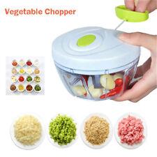 Manual Kitchen Vegetable Cutter Speedy Chopper Spiral Slicer Meat Fruit Shredder