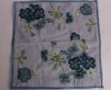 """NWT Pottery Barn Paola Embroidered pillow cover 18"""", blue"""