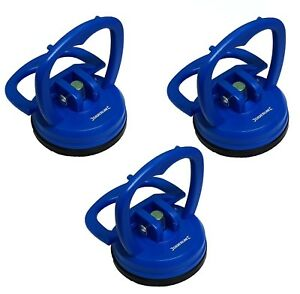 3x Heavy Duty Suction Pad Cup 15kg Glass Lifter Carry Car Dent Puller Sucker