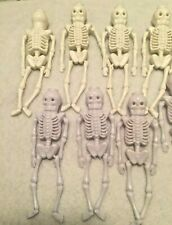 """Lot of 12 HALLOWEEN SKELETON Light Covers 5"""" tall Skeleton Arms Legs Move"""