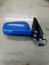 VW GOLF MK3.5 CABRIOLET DRIVER SIDE RIGHT WING MIRROR COMPLETE BLUE
