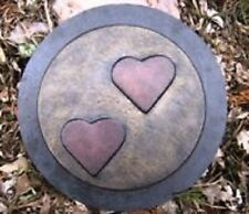 Heavy duty abs plastic heart stepping stone mold