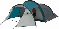 Coleman Cortes 3 Man Tunnel Tent Blue Weekend Tent Fast Pitch 3 Person