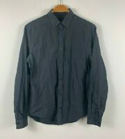 Country Road Mens Button Up Shirt Size XS Dark Grey Long Sleeve Business Casual
