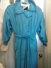 80s Snowsuit XCT Roffe Teal Blue Womens Size 10 SKI Bunny Snow Suit BIB