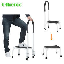 Adjustable 330 Lbs Non-Slip Handy Support Step Stool w/ Handle Kitchen Safety