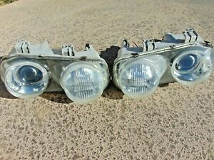 94-97 Acura Integra Headlight Assemblies w/ Restored Clear Lenses LH & RH OEM