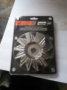 CHROME ALTERNATOR FAN AND PULLEY SET SBC, BBC, FORD, GM