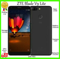 "ZTE BLADE V9 VITA DUAL SIM BLACK ~UNLOCKED~ 16GB 5.45"" 3200mAh HD Smartphone NEW"