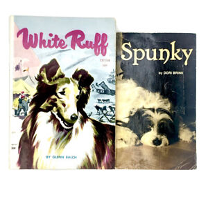 White Ruff Spunky 2 Vintage Scholastic Dog PB Books TX154 Dori Brink Glen Balch