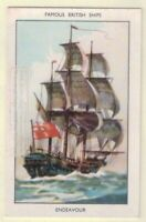 "HMS ""Endeavour"" Captain Cook Australia New Zealand  60+ Y/O Ad Trade Card"