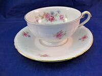 "ANTIQUE PORCELAIN TEA CUP AND SAUCER  - BAVARIA GERMANY - ""WINTERLING"""
