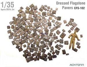 1:35 Flagstone Pavers Model Diorama Accessories 200 Dressed Building Stone Set