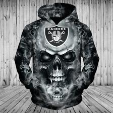 Las Vegas Raiders Hoodies Sweatshirts Men's Pullover Hooded Casual Jacket Coat