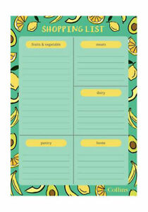 Super Food A5 Collins Shopping Planner With Magnet Shopping List Pad