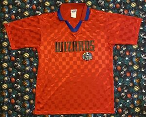 Rare Vintage Majestic MLS Kansas City Wizards Futbol Soccer Jersey