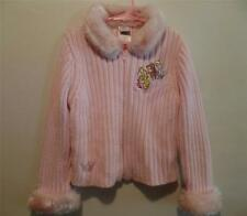 Disney Store Girl's Pink PRINCESS Rib Knit Sweater w/ Faux Fur Trim,  Sz XS 4-5