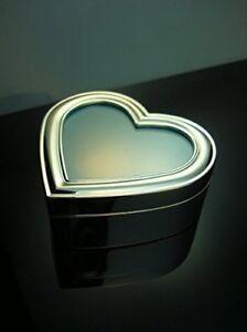 B-Ware Schmuckschatulle Herz mit Foto Schmuckkästchen Silber Etui Schmuckdöschen