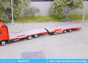 1:87 EM104.2 Bausatz Aufbauten für Traktotransporter Hängerzug passend für Herpa